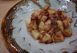 パスタ醤油レシピ|ジャガイモとベーコンの簡単おかず