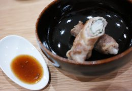 パスタ醤油レシピ|豚肉のしそ巻き炒め