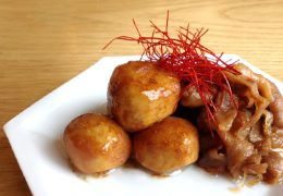 こいくち甘露レシピ|里芋と豚バラ肉の照り焼き